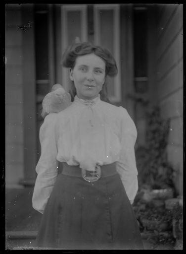 Woman with Pet Bird