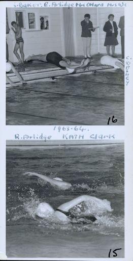 West End Amateur Swimming Champions - [1] Baker / R Arlidge / Mrs O'Hara / Mrs W[ynks?] / [2] R Arlidge / Kath Clark