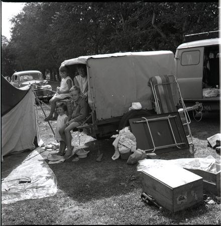 Holidaymakers at the Palmerston North Municipal Motor Camp