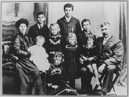 Alva and George Atkinson with their children