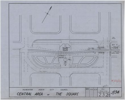 Plan of the central area of The Square