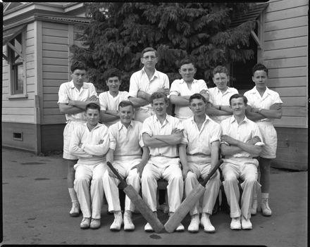 Cricket Team, Palmerston North Technical High School