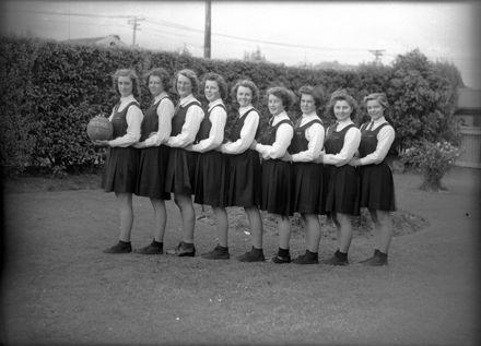 Palmerston North Technical High School - 'A' Netball Team