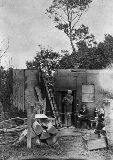 Peter Gray's hut on the banks of Manawatu River