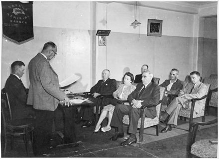 Evans Family Collection: Trade Union meeting at Labour Party Rooms