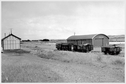 Foxton Railway Station yard and goods shed