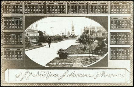 New Year's Greeting Postcard and Calendar 1