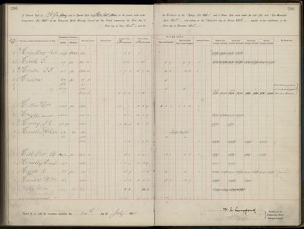 Palmerston North Rate Book, 1893 - 1896, 301