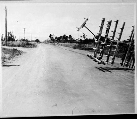 Downed Telegraph Poles, Foxton Line