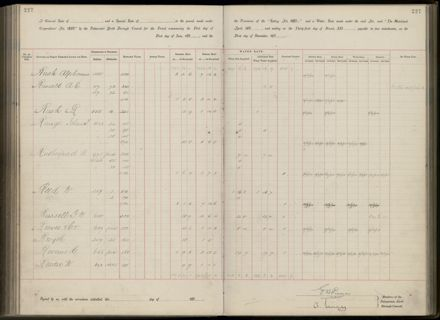 Palmerston North Rate Book, 1893 - 1896, 232