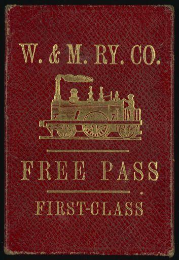 Free Pass to travel on the Wellington and Manawatu Railway