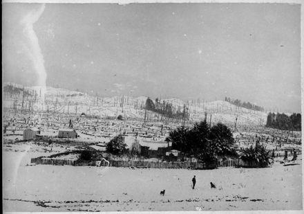 Henry W Bennett's Farm, Apiti, in winter