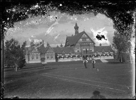 Men Playing Croquet at Sanatorium Gardens