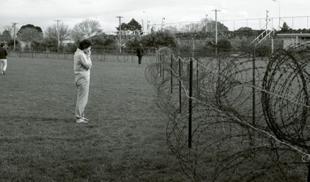 Barbed wire at the Showgrounds