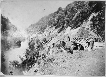 Road bridge through the Manawatu Gorge