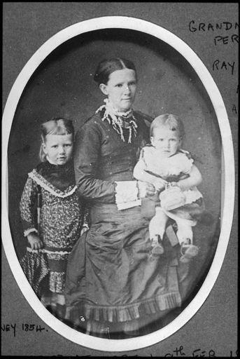 Matilda Perrin and daughters, Rachel and Ada