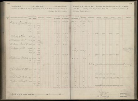 Palmerston North Rate Book, 1893 - 1896, 254