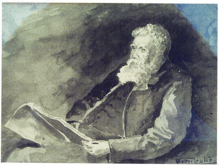 Watercolour of Alexander McDonald