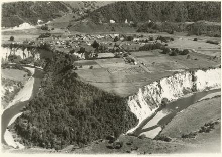 Aerial photograph of Mangaweka