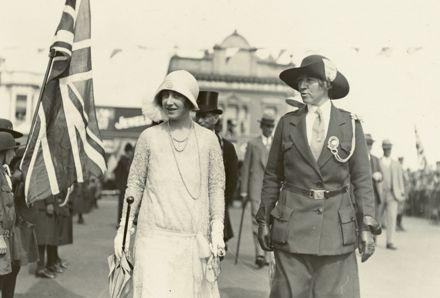 Duchess of York and Guide Leader Charlotte Warburton in Palmerston North
