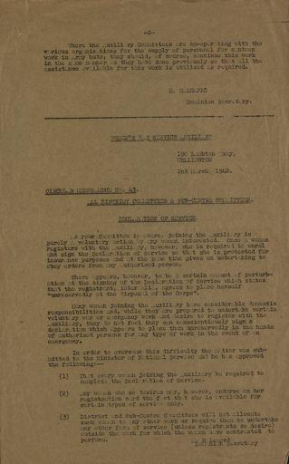 Women's War Service Auxiliary Memorandum No. 42 Page 2