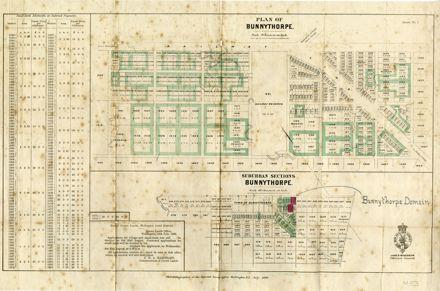 Plan of Bunnythorpe 1886