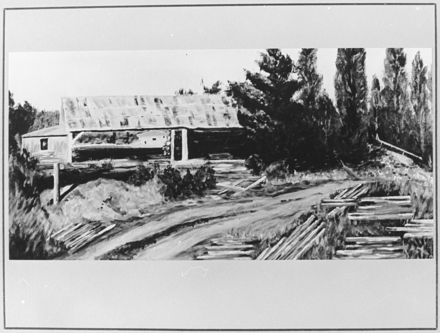 Painting of Carl Brill's Sawmill