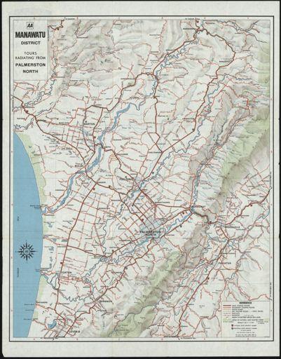 AA Manawatu District Map 1976 1