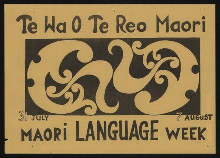 Māori Language Week poster