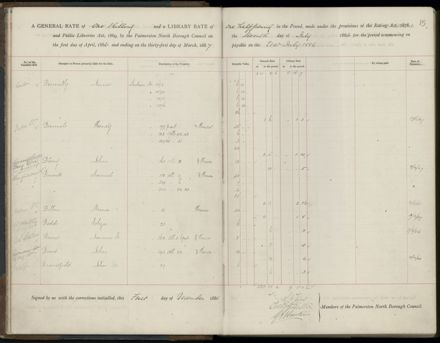 Palmerston North Rate Book, 1886-1889, 18