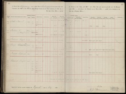 Palmerston North Rate Book, 1893 - 1896, 48