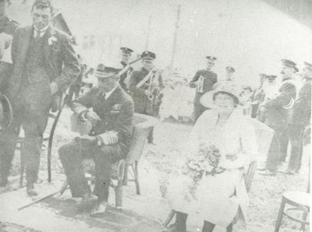 Visount Jellicoe at the dedication of Rongotea War Memorial