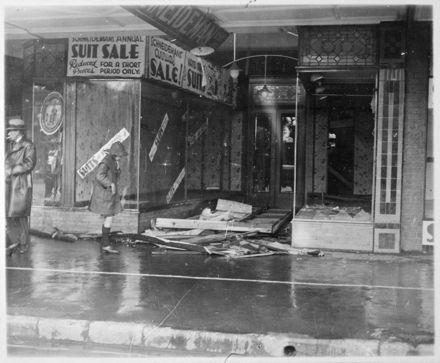 Shopfronts Damaged in Storm