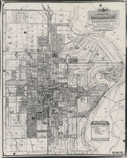 A New Map of the Borough of Palmerston North, Wellington Land District, New Zealand