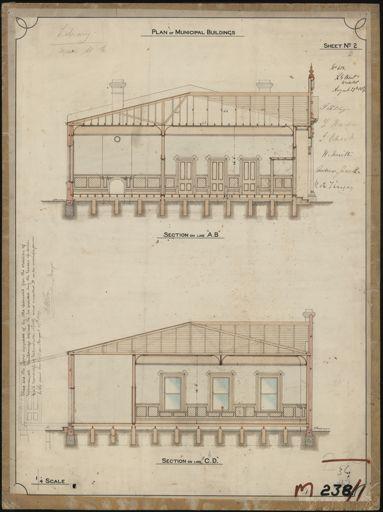 Plan of Municipal Building