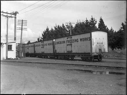 Railway Wagons, Longburn Freezing Works
