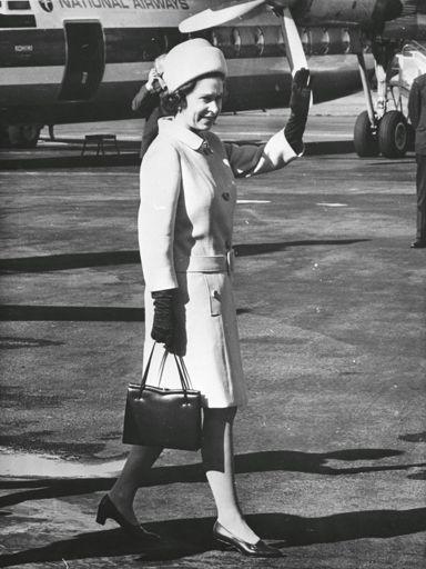 Queen Elizabeth II at Milson Airport