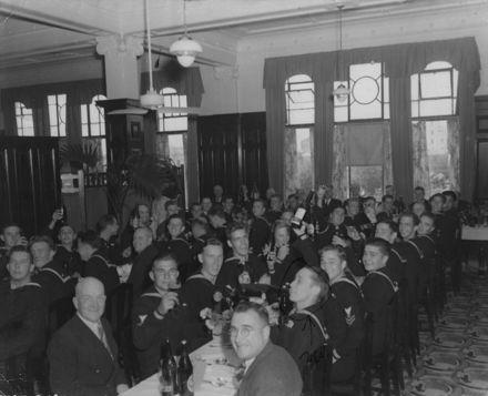 American Sailors in C M Ross Co Ltd tearooms