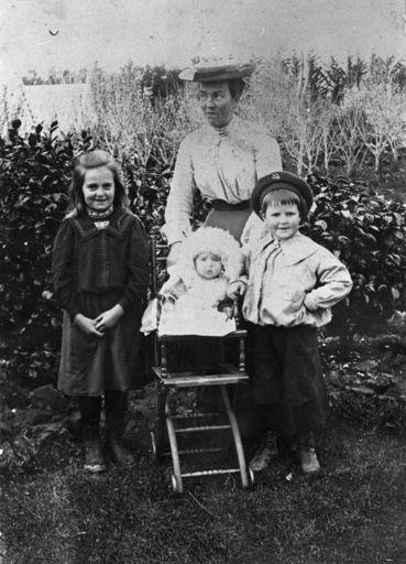 Mrs Annie Nairn and children