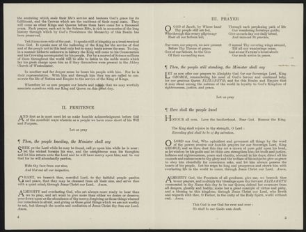 Coronation of King George VI and Queen Elizabeth - Order of Service - 3