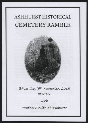 Ashhurst Historical Cemetery Ramble