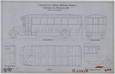 Plan of a proposed 27 passenger bus
