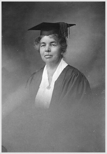 Miss C B Mills, First Principal of Palmerston North Girls' High School