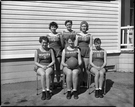 Netball or Basketball Team, Palmerston North Teachers' College