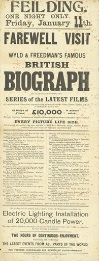 Poster for film screening evening
