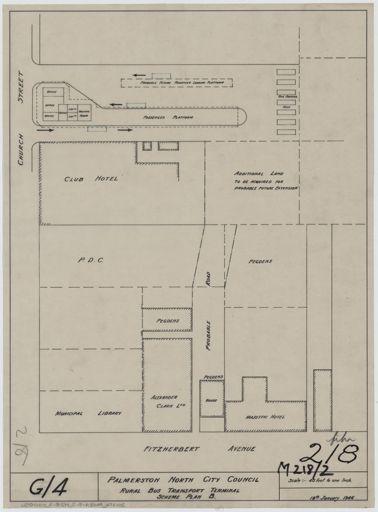 Plan of rural bus transport terminal