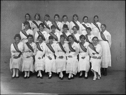 Waitresses for dinner to celebrate the restoration of North Slesvig to Denmark