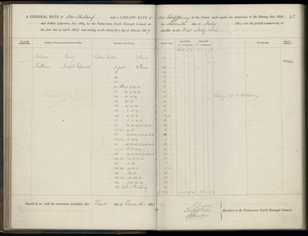 Palmerston North Rate Book, 1886-1889, 50