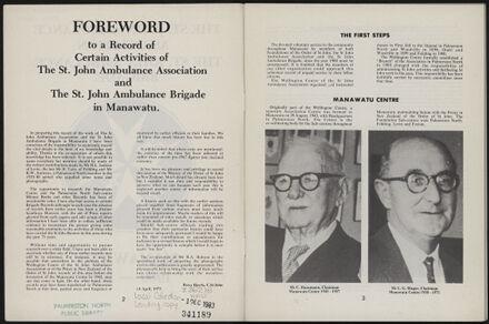 History of the St John Ambulance Association Manawatu, 1900-1975 3