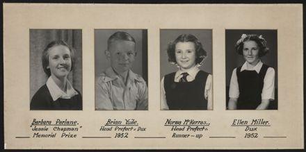 Terrace End School Student Leaders, 1952